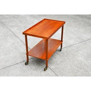 1960's Mid-Century Danish Modern Teak Bar Cart by Poul Hundevad Preview