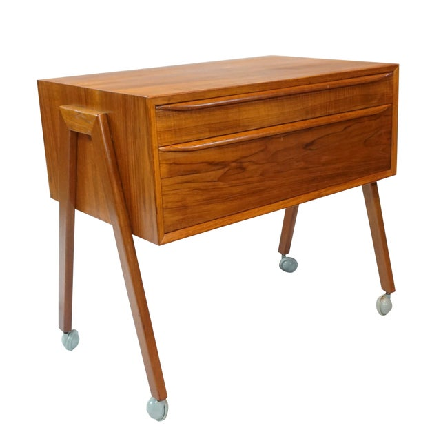 Danish Modern Sewing Table / Side Table For Sale