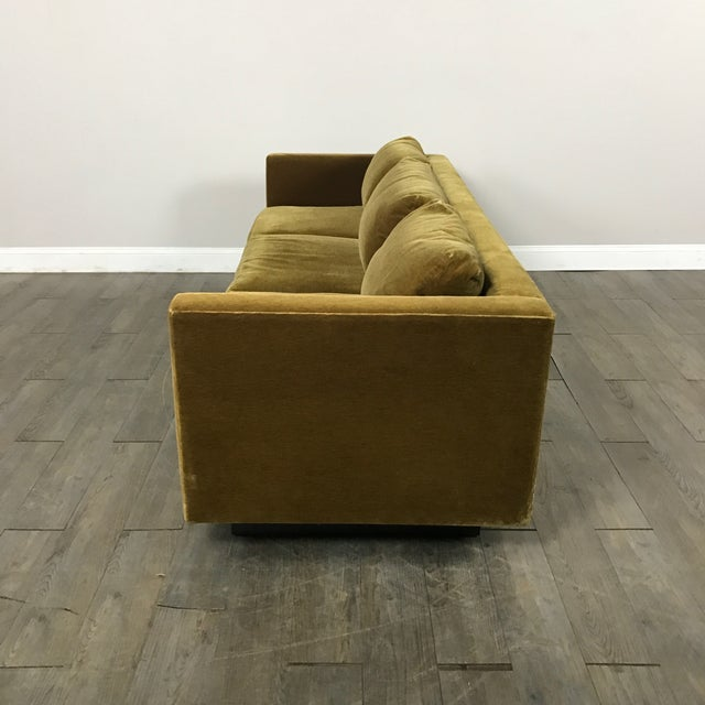 Vintage Gold Mohair Sofa - Image 10 of 11