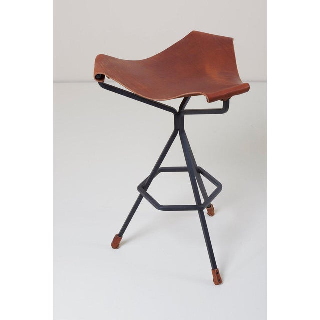 Daniel L. Wenger Set of Three Bar Stools by Dan Wenger, Us For Sale - Image 4 of 8