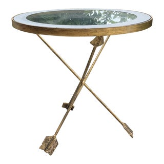Golden Arrows Gueridon Side Table For Sale