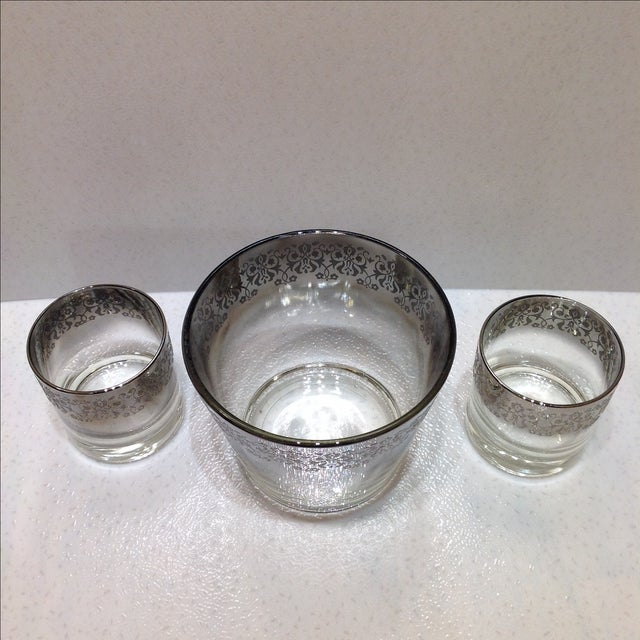 Mid-Century Silver Ombré Cocktail Set - Set of 3 For Sale - Image 5 of 7