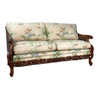 Carved Fruit Wood Love Seat, Switzerland Circa 1920 For Sale