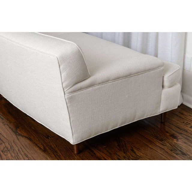 Mid-Century Modern Curved Sofa in White Fabric by Edward Wormley for Dunbar For Sale - Image 9 of 11
