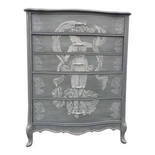 French Solid Wood Highboy Dresser