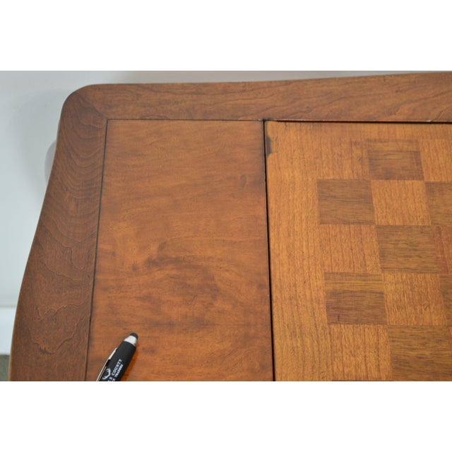 Italian Provincial Louis XV Style Game Table W/ Chess Board Top For Sale - Image 9 of 13