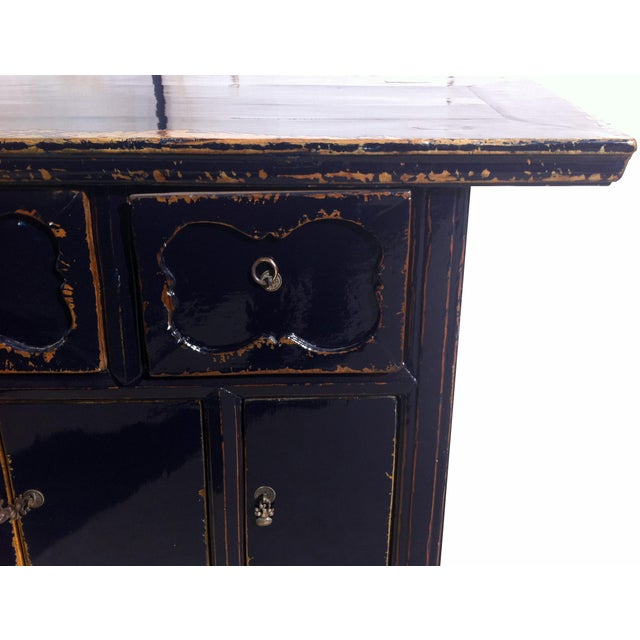 Dark Blue Altar Sideboard For Sale - Image 5 of 9