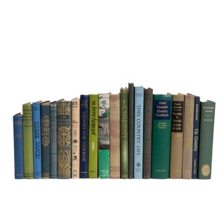 Vintage Farmland Country Book Set, (S/20) For Sale