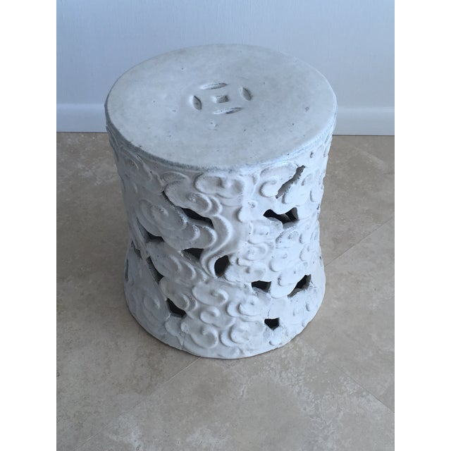 """2010s Chinese """"Cloud"""" Garden Seat For Sale - Image 5 of 11"""