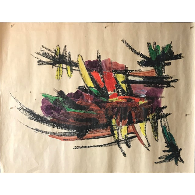 1960s 1960s Bay Area Abstract Expressionism Bowl of Bananas For Sale - Image 5 of 8