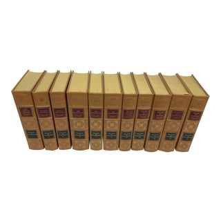 Decorative Books - Story of Civilization Durant Leather Binding Books - Complete in 11 Volumes For Sale