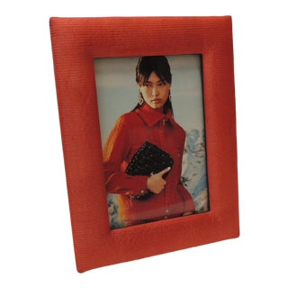 Jim Thompson Tomato Red Vintage Picture Frame For Sale
