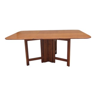1960's Pine & Bamboo Dining Table