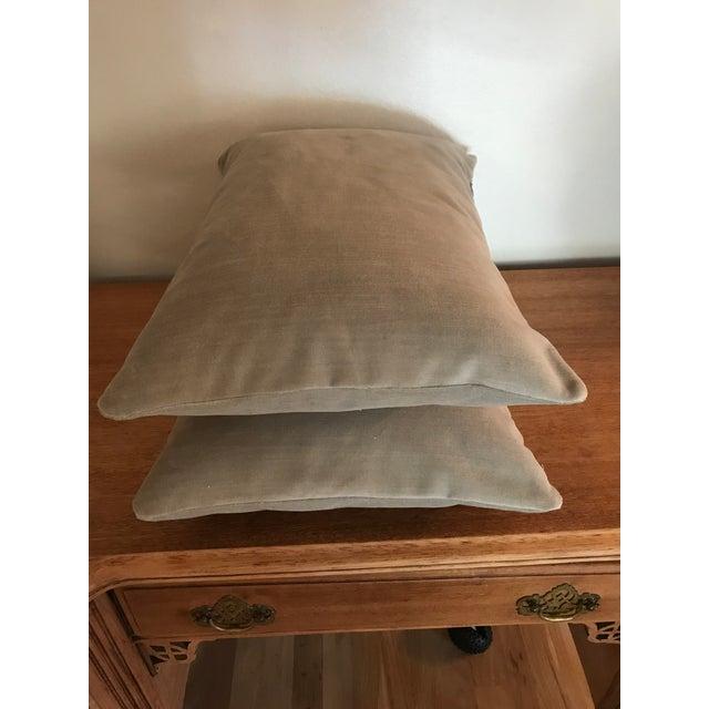 Velvet Lumbar Pillows - a Pair - Image 4 of 6
