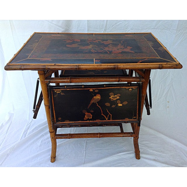 Chinoiserie Black Lacquered Table - Image 3 of 6