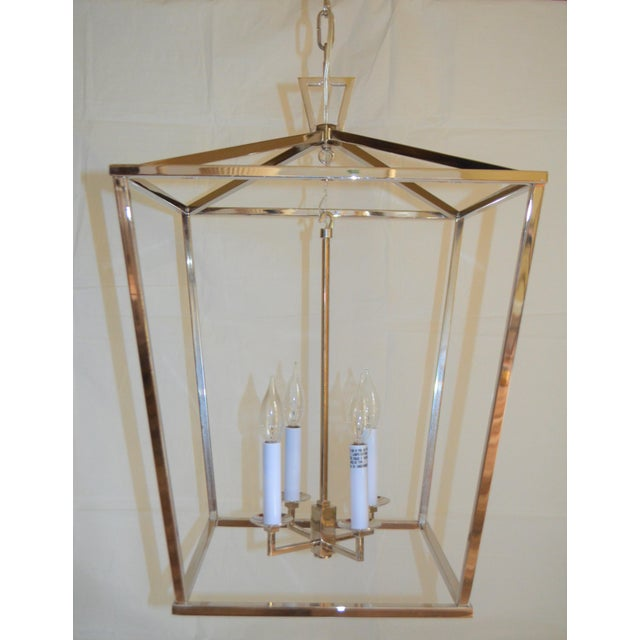 Silver Visual Comfort Medium Darlana Lantern For Sale - Image 8 of 9