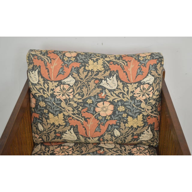 Wood Stickley Mission Collection Oak Spindle Cube Chair For Sale - Image 7 of 13