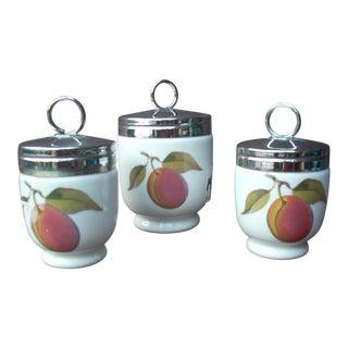 Royal Worcester Egg Coddlers - Set of 3