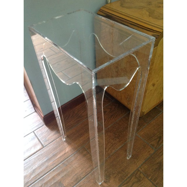 Late 20th Century Vintage Acylic Plant Stand Table For Sale - Image 5 of 7