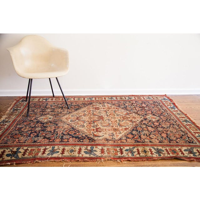 "Antique Bijar Area Rug - 5'4"" X 6'8"" - Image 2 of 10"