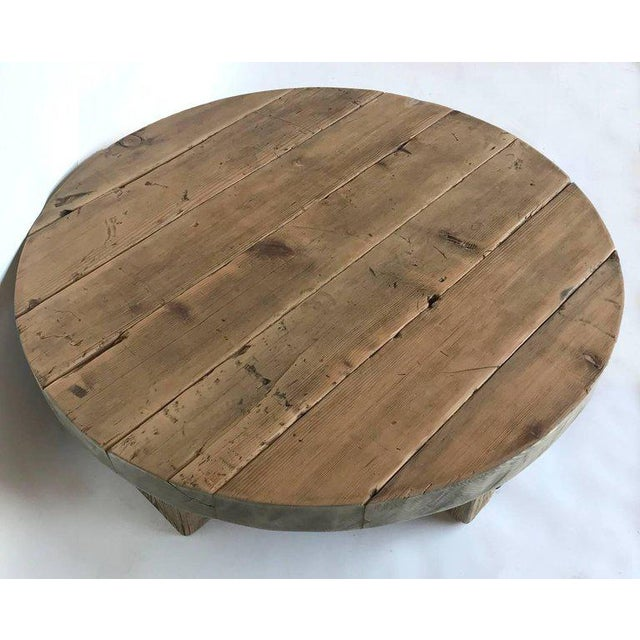 Low Rustic Coffee Table: Superior Round Rustic Modern Wood Low Coffee Table