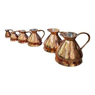 English Copper Haystack Measures - Set of 6 For Sale
