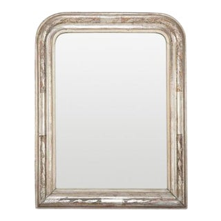 French Louis Philippe Period Silvered Arch Top Mirror For Sale
