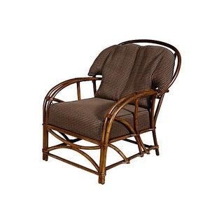 1950's Rattan Lounge Chair