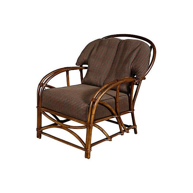 1950's Rattan Lounge Chair - Image 1 of 5