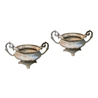19th Century French Cast Iron Urns - a Pair For Sale