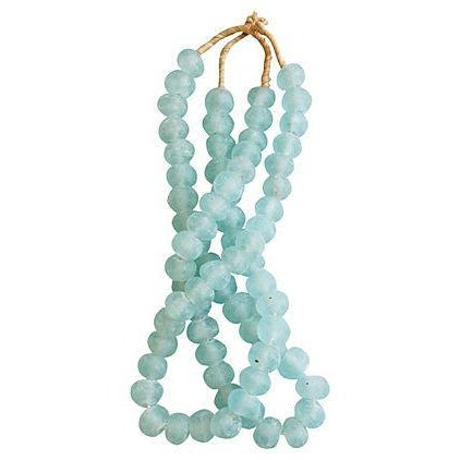 Icy Blue Jumbo Sea Glass Bead Strands - a Pair - Image 1 of 4