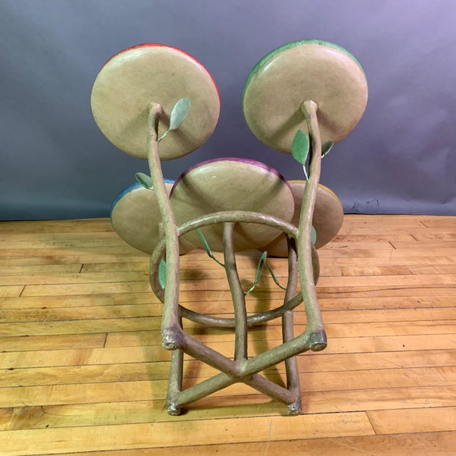 French Artist Designed Polychrome Resin Plant Stand For Sale - Image 10 of 11