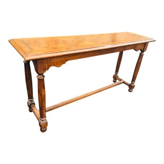 French Country Walnut Console For Sale