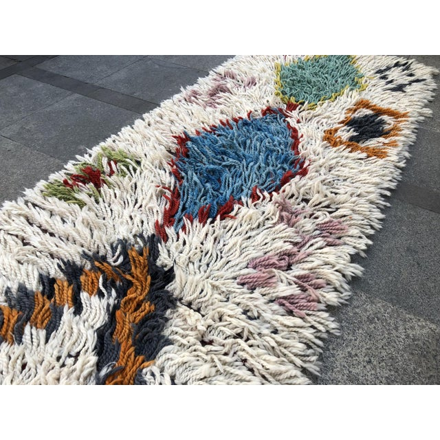 Textile 1970s Vintage Hand-Knotted Turkish Runner Rug - 2′9″ × 12′ For Sale - Image 7 of 11