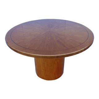 Round Starburst Drum Base Dining Table