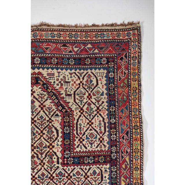Islamic Shirvan 19th Century Caucasian Rug - 3′11″ × 5′6″ For Sale - Image 3 of 9