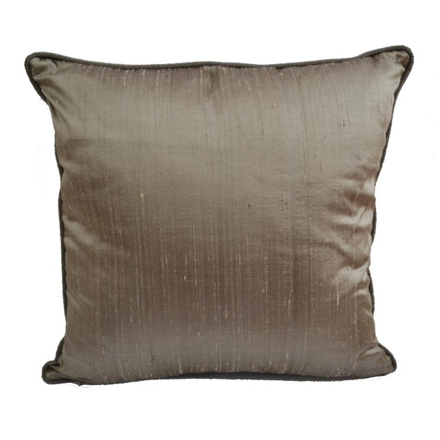 "Americana Scalamandré Red ""Fire Stitch"" Velvet Pillow For Sale - Image 3 of 9"