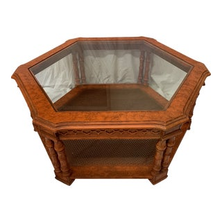 Orange Chinese Chippendale Coffee Table For Sale