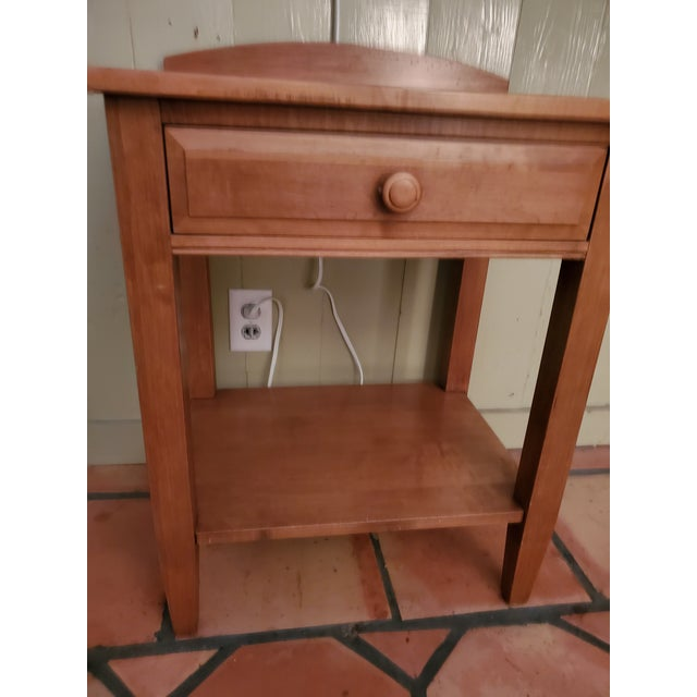Brown Vintage Maple Nightstand For Sale - Image 8 of 11