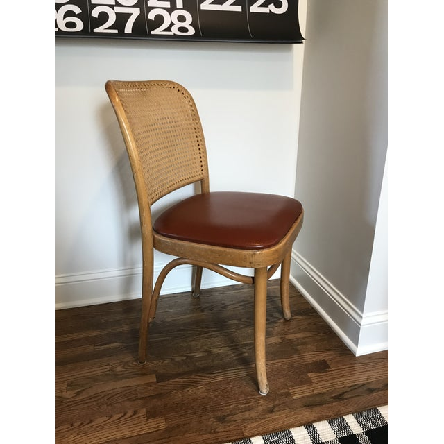 Danish Modern Cane Back Chair in the Style of Josef Hoffman For Sale - Image 3 of 11