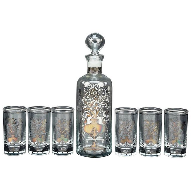 Traditional Italian Bicchielli Liquor Suite For Sale - Image 3 of 3