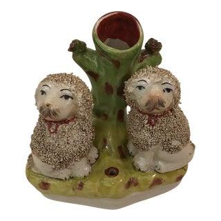 Antique Poodles Spill Vase