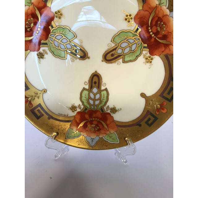 Art Nouveau Early 1900's Pickard Oriental Poppy Plate Signed a Richter For Sale - Image 3 of 4