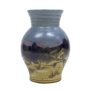 Ceramic Yellowstone Vase by Carl Sheehan For Sale