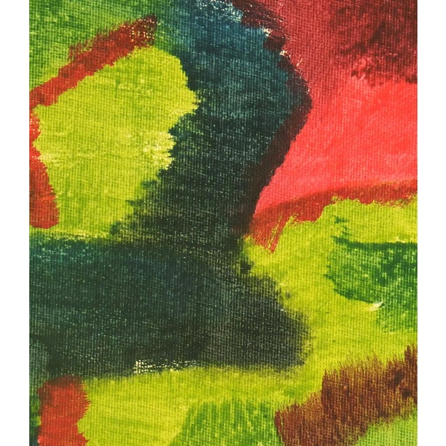 Mid-Century Modern Vintage 1975 Original Abstract Painting For Sale - Image 3 of 3