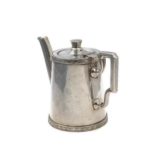 Art Deco 20th Century Art Deco Ercuis Silver Orient Express Coffee Pot For Sale - Image 3 of 9