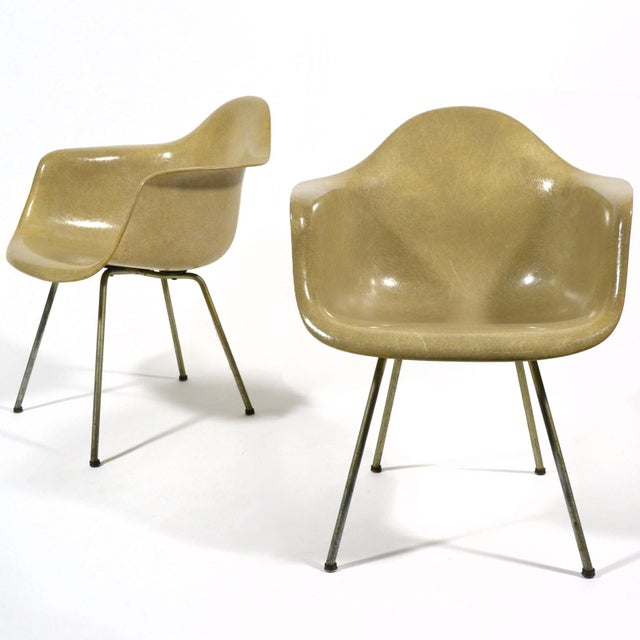 Pair of Eames SAX Armchairs by Zenith Plastics for Herman Miller - Image 2 of 11
