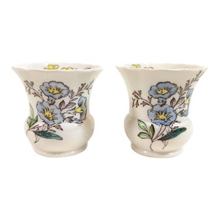 Copeland Spode Great Britain Gainsborough Toothpick Holders - A Pair For Sale
