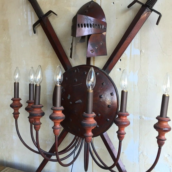 7-Arm Vintage Wall Sconce - Image 3 of 7