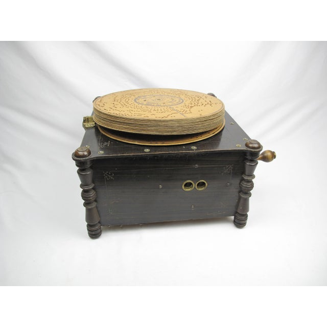 Ariston Organette Music Box Player With Punched Paper Records For Sale - Image 9 of 10